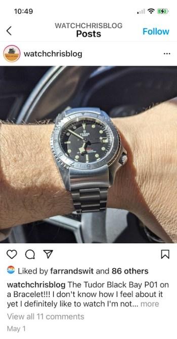 Don't buy a Rolex watchchris instagram