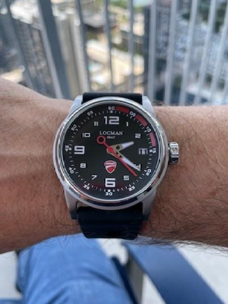 Locman Italy Herrenuhr Ducati wrist shot