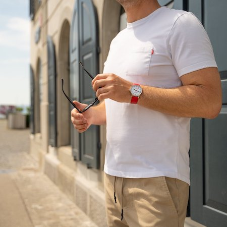 T-shirt and watch
