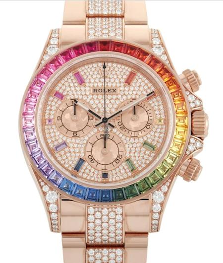 Rolex Cosmograph Daytona Chronograph Rainbow Diamond Watch