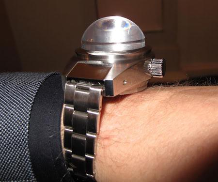 Rolex on wrist