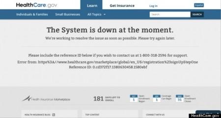 Obamacare Website Down