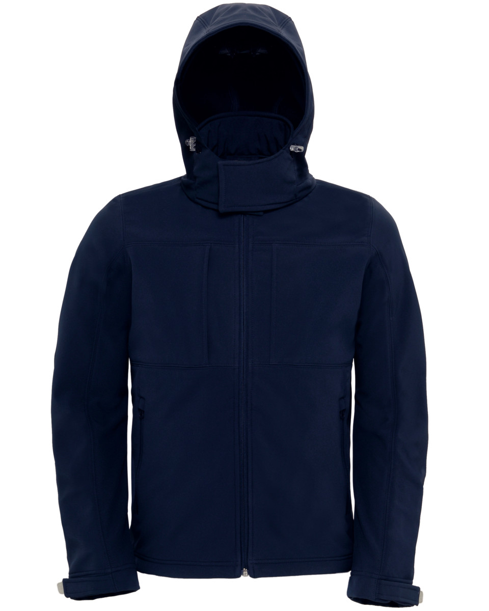 B and C Men's Hooded Softshell