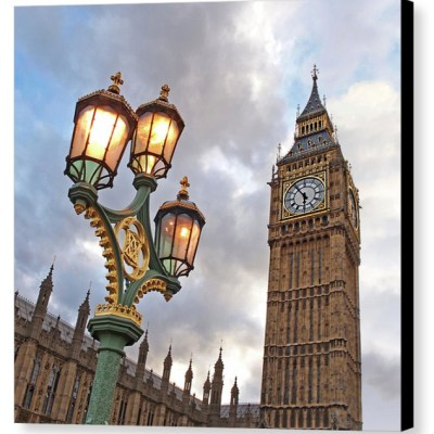 Evening Light at Big Ben - Photograph on Canvas