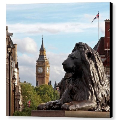 Trafalgar Square Lion - Photograph on Canvas