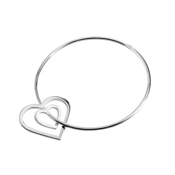 B CL198 Eternity Heart Bangle Classic