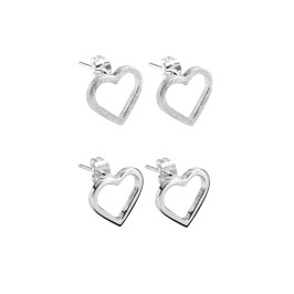 CL202 Eternity Heart Studs textured-matt