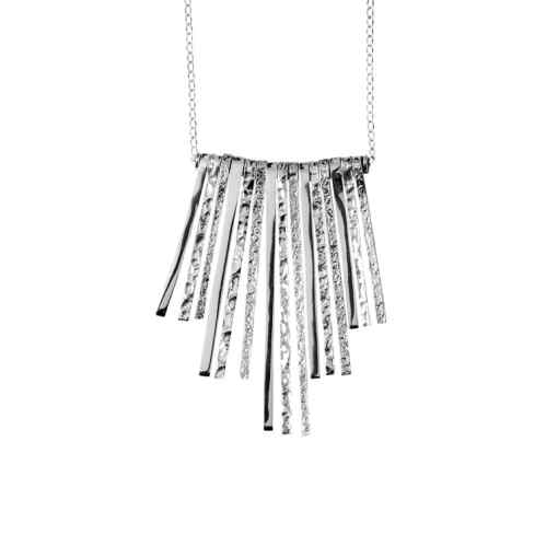 Handmade symmetrical sterling silver necklace