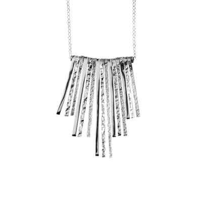 Handmade symmetrical sterling silver necklace