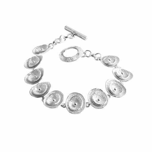 Handmade Poppy Sterling Silver Bracelet