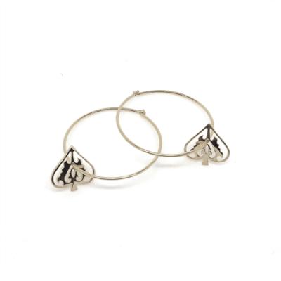 Handmade Ace of Spade Sterling Silver Earrings