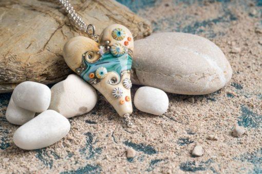 Sand & Sea Extra Large heart pendant