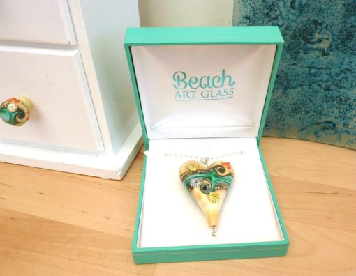 Sand & Sea Extra Large heart pendant