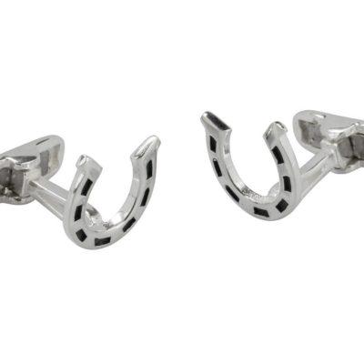 Handmade Sterling Silver Horseshoe cufflinks
