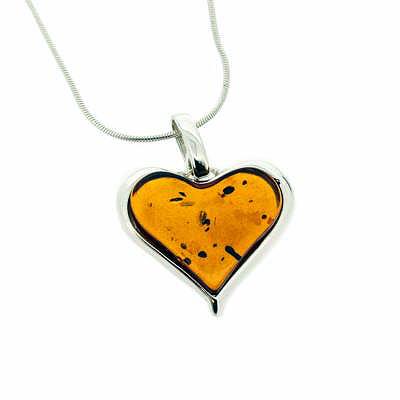Amber Art Simple Heart Pendant