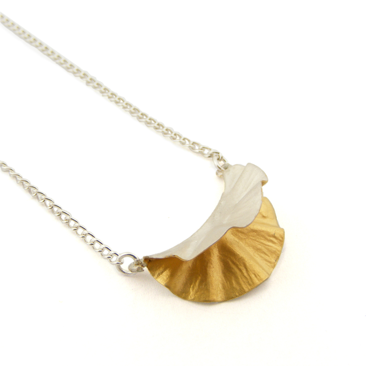 Oyster Necklace – Silver & 18ct Gold Plate