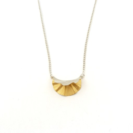 Silver & Gold plated Oyster Pendant
