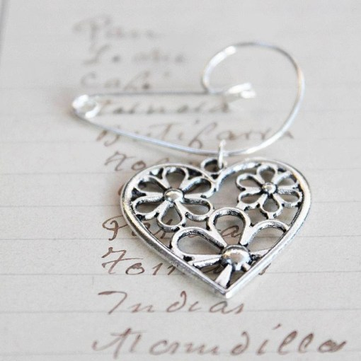Filigree Heart Brooch