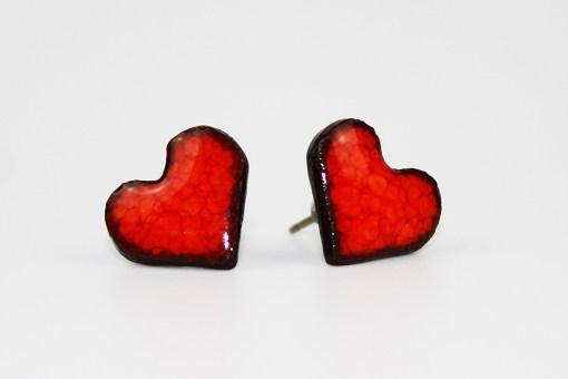 Heart Ceramic Stud Earrings