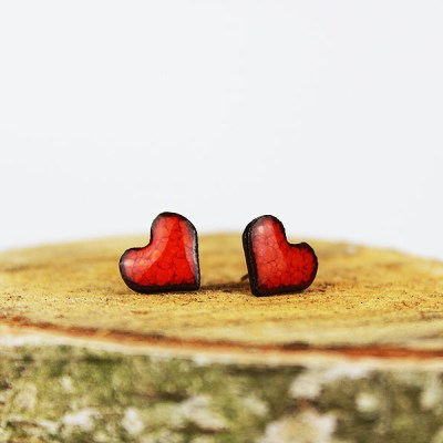 Heart Ceramic Stud Earrings