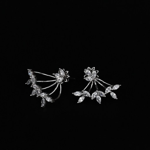 Cubic Zirconia & Sterling Silver Earrings