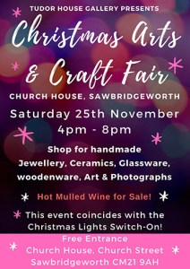 Christmas Arts & Craft Fair Saturday 25th November