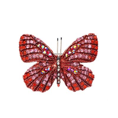 Red butterfly brooch/pendant