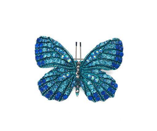 Blue butterfly brooch/pendant