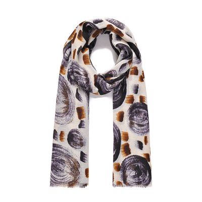 Circle print scarf