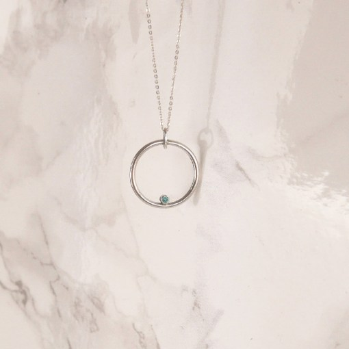 Circle Swarovski Necklace