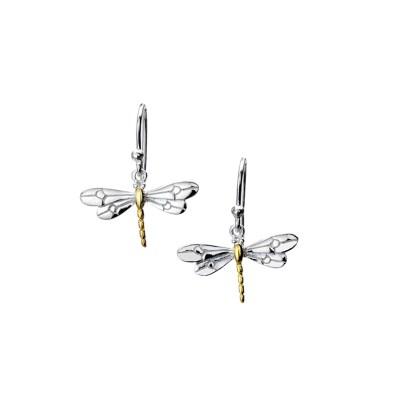 Handmade Sterling Silver Dragonfly Earrings