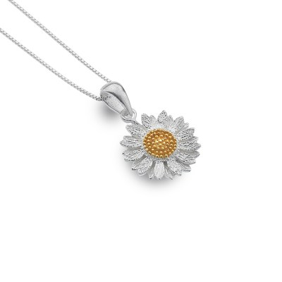 Glowing sunflower pendant