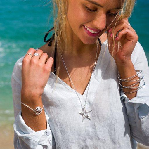Handmade Sterling Silver Starfish Earrings
