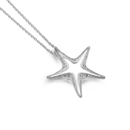 Handmade Sterling Silver Starfish Necklace
