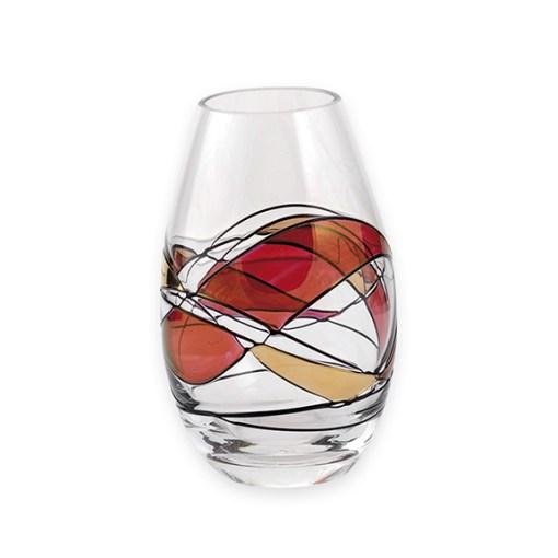 Ruby Mosaic Vase 12cm tall