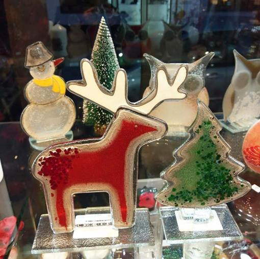Handmade Fused Glass Reindeer