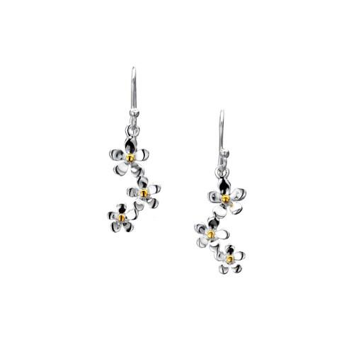 Sterling Silver Daisy Cluster Earrings