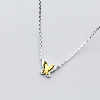 Sterling silver & Gold plated Butterfly Necklace
