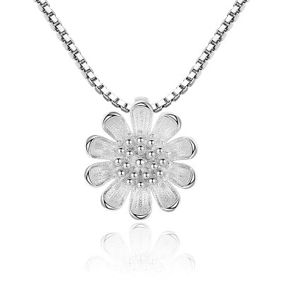 Sterling Silver Daisy Necklace
