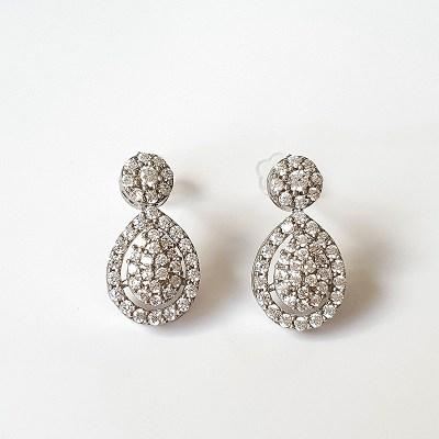Clear Cubic Zirconia Earrings
