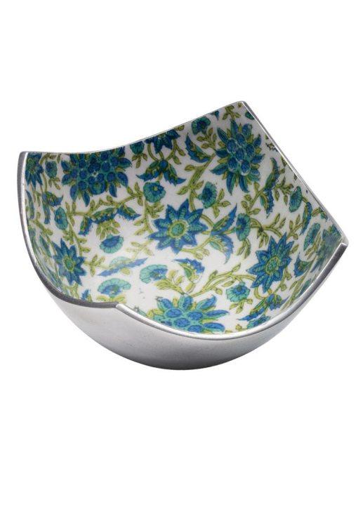 Floral Print Aluminium 4 Point Bowl
