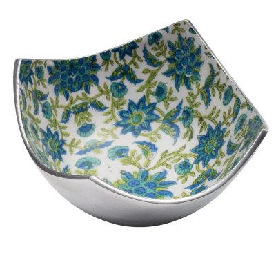 Floral Print Aluminium 4 Point Bowl