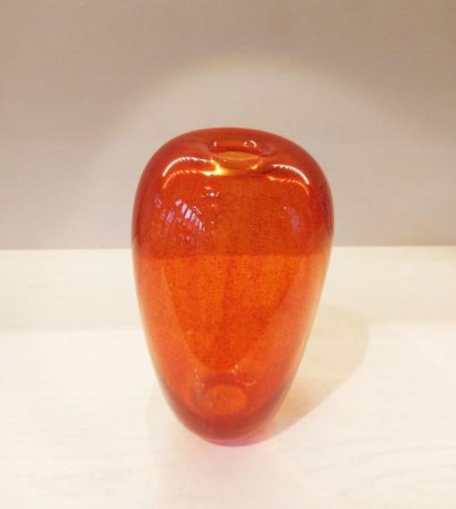 Transparent Orange Glass Vase