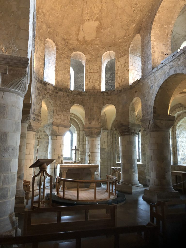 The Chapel of St John inside the White Tower at the Tower of London.
