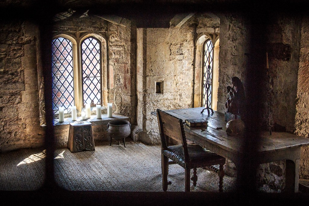 A room at Berkeley Castle, another stop on the 1535 royal progress