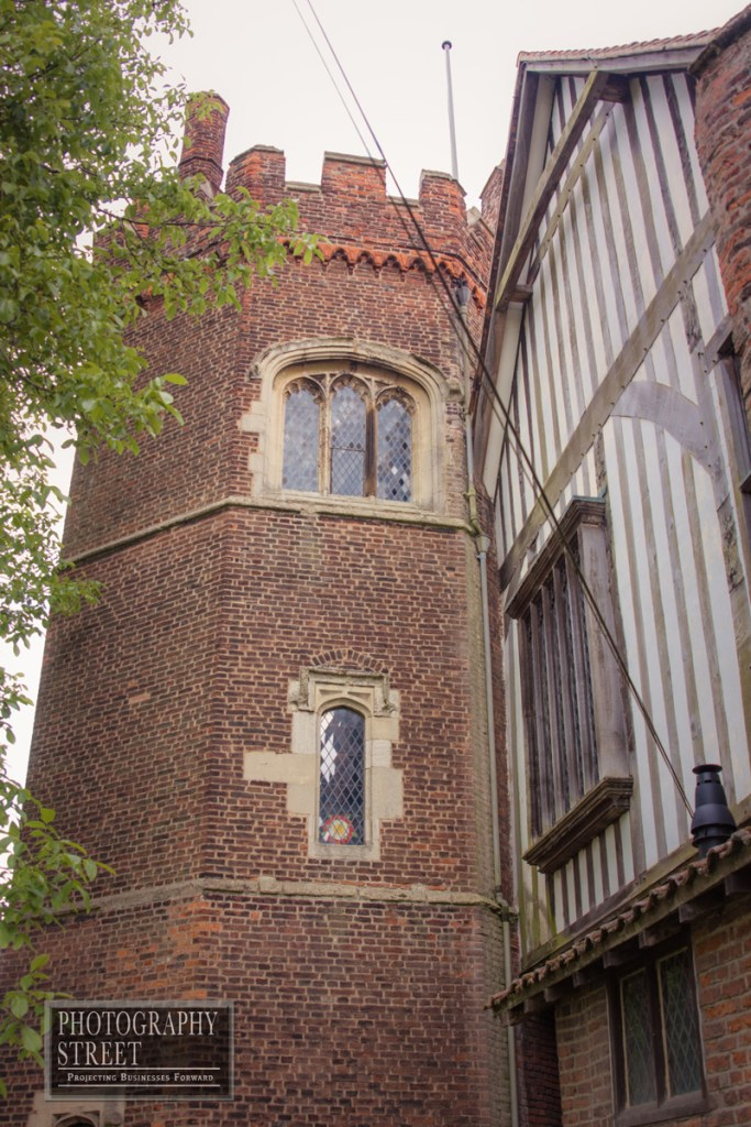 The tower adjoining the privy lodgings built of fashionable Tudor red-brick