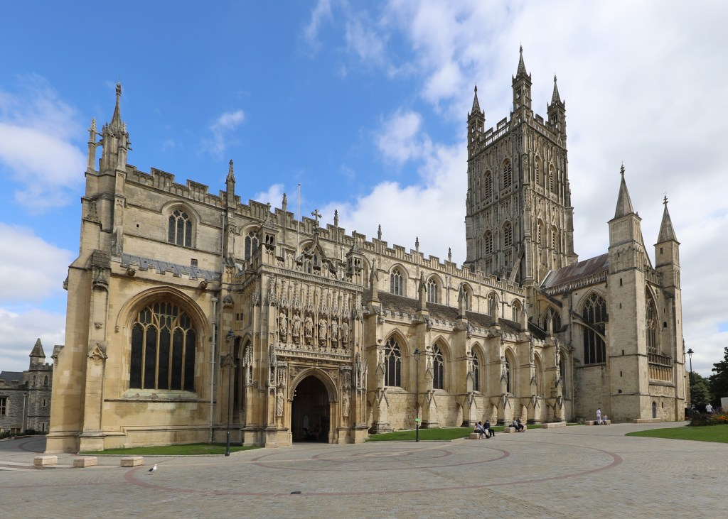 Gloucester Cathedral, a stop on the 1535 progress