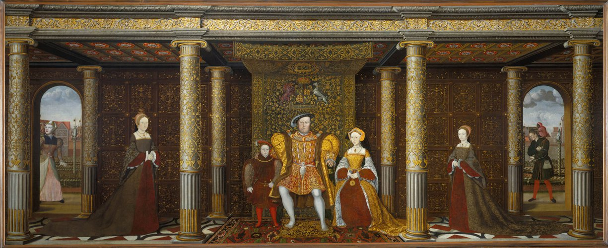 The Presence Chamber depicted in 'The Family of Henry VIII'