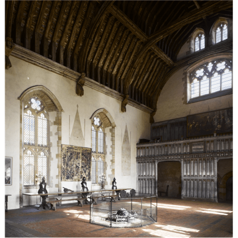 The Great Hall: a typical feature of a Tudor Palace
