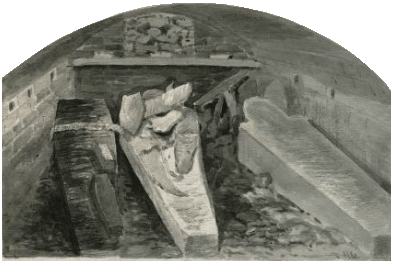 The coffin of Henry VIII